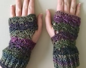 READY TO SHIP Fingerless Gloves - Wrist Warmers for Women/Teens - Grey, Green, Purple