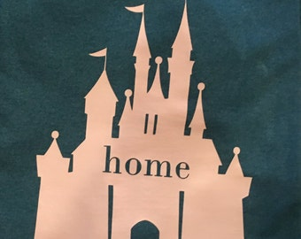 Disney Castle Home Tshirt - Custom Disney Inspired Tees - Adult Disney Tees - Family Disney Tees