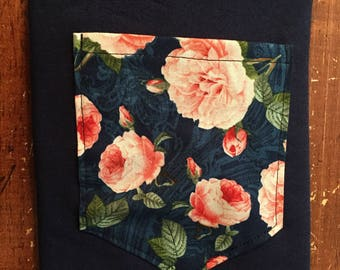 Pink Roses Pocket Shirt S/M/L/XL