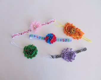 Grab Bag - 5 for 5 Dollars - Assorted Baby Girl Headbands - Little Girls Hair Bow Accessories - Toddler Hairbows - Ready To Ship Gift Set C4