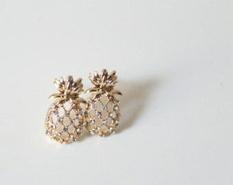 Pineapple Crystal Stud