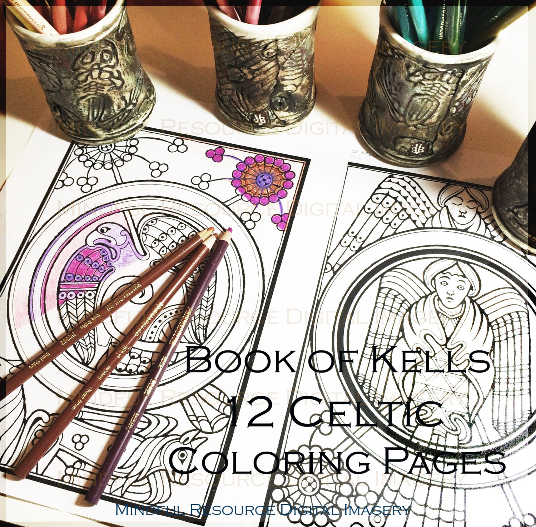 Book of Kells Digital Coloring