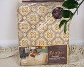 Vintage bed sheets, NOS 70s Sheridan 'Marrakesh' sheet set, Double bed sheet set, Boho bedding
