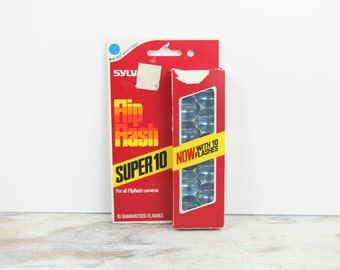 Vintage Camera Flash Bulbs, Flip Flash by Sylvania