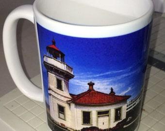 Mukilteo Lighthouse Large Coffee Mug 15 Oz