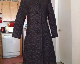 RESERVED DON'T BUY  Brocade quilted 60s Mad Men jacket/coat medium