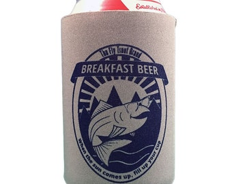 Breakfast Beer - Fly Fishing Can Cooler