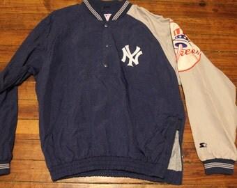 New York Yankees starter jacket vtg MLB Baseball vintage windbreaker jacket Large