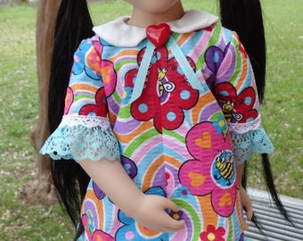 """16"""" Doll Clothes 1960's Style Dress Fits A Girl For All Time Sam"""