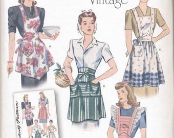 Simplicity Pattern 1221 Vintage Style Aprons S M L