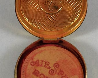 Coty Air Spun Rouge Compact With Contents 1920s