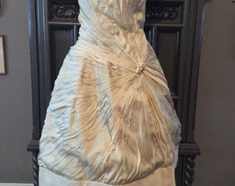 Rare Helena Barbieri Silk Swirl Evening Dress Perfect for a Wedding