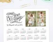 2017 Calendar Template, 2017 Calendar Template for Photoshop, 11x14 8x10 5x7 Calendar Template for Photographers, Photography Templates