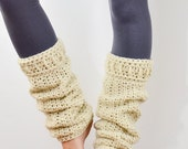 Leg Warmers Cream, Rain Boot Liners, Womens Leg Warmers Crochet .. Sierra Leg Warmers