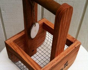 Basket-BURLIN Handcrafted Basket, Egg Basket, Berry Basket, Wedding Basket, Mini Basket