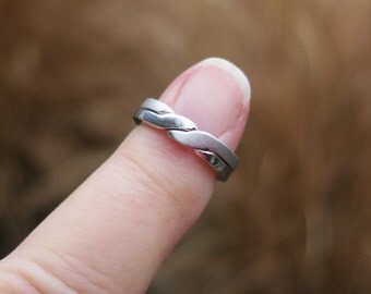 Vintage 925 Sterling Silver Puzzle Ring