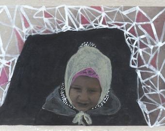 "Fine Art Print: ""Triangular Snow Fort"" 4x6 Matted to 5x7"