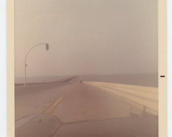 Vintage Snapshot Photo: Louisiana, Lake Pontchartrain Causeway, c1960s (75575)