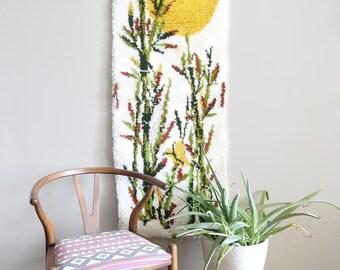 Vintage Carpet Tapestry Wall Hanging Textile Art