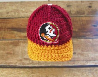 Baby boy hat , Baby clothes, FSU Florida State University Seminoles hat, Baby boy clothes, baby boy outfit, baby boy coming home outfit