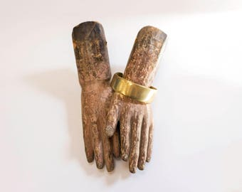Handsome Antique Solid Brass Arm Band/Cuff from Gujerat, India