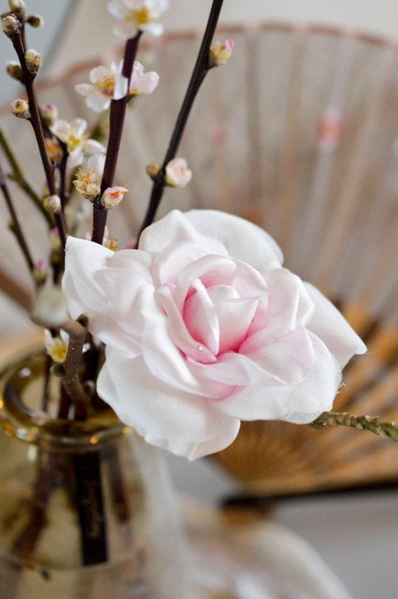 Crystal Rose - Floral Headpiece - Vintage Hair Accessories - Crystal Flowers - Hair Jewellry - Wedding Headpieces - Hair Clip-