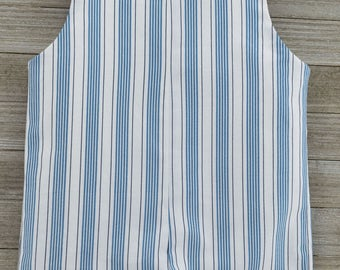 Custom made Blue Stripe Romper. Perfect for Beach Photos, Easter Sunday or as an everyday outfit this Spring/Summer!