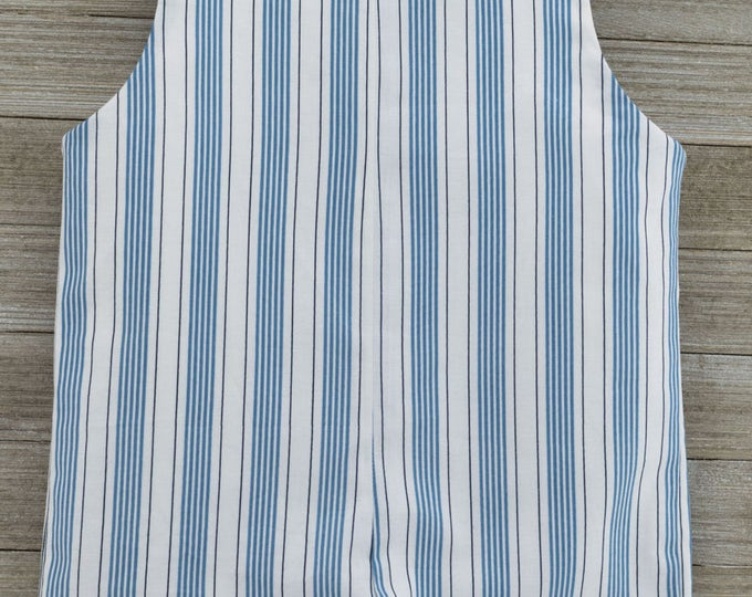 Featured listing image: Custom made Blue Stripe Romper. Perfect for Beach Photos, Easter Sunday or as an everyday outfit this Spring/Summer!