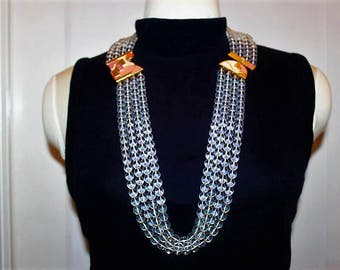 SALE! MONET Designer Couture High End Massive Runway Hard To Find Ultra Rare Necklace ND6