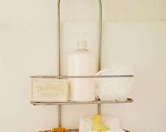Vintage Shower Caddy - Retro Bath Caddy - Bathroom Accessory - Bathroom Storage - Retro Shower Shelf - Vintage Bathroom Decor Display