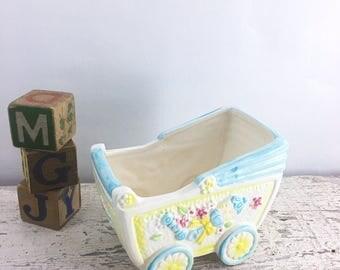 Vintage Ceramic Baby Boy Planter