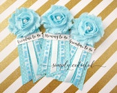 Blue Baby Shower Pins Corsages, Mommy to Be Grandma to Be Pins Set, It's a Boy Baby Shower