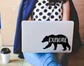 Bear Car Decal sticker, Bear Explore decal, Water bottle decal, Sticker for laptop decal, Bear gift, Bumper sticker Bear Vinyl Decal Mama