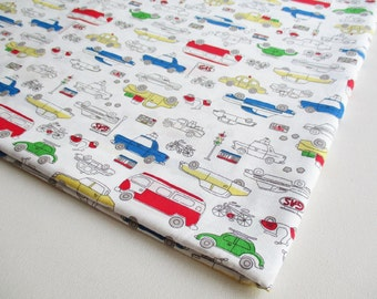 Boy Toy, Truck, Car, Vespa, taxi, Van, Cotton fabric, boy shirt, kid, baby shower, ipad case, children clothes, pillow cover,boy bag,CT610