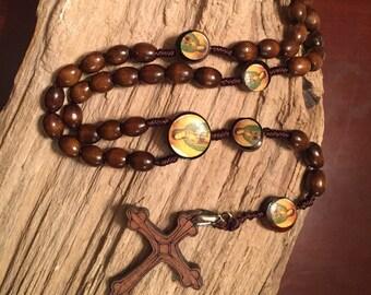 Natural wooden rosary