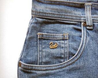 vintage jeans/ vintage gloria vanderbilt jeans /high waisted jeans/ cropped jeans /mom jeans/ size 10 jeans/ women's jeans/designer jeans