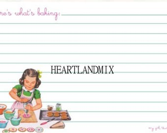 Printable Recipe Card Download Young Girl Cooks, Recipe Cards, Young cooks, Child Cook