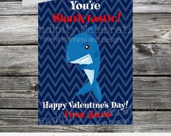 Shark Printable Valentine Cards, Shark Valentine's Day Cards, Classroom Cards, Valentine's Day,  Kids Valentine Cards, DIY Valentine's Cards