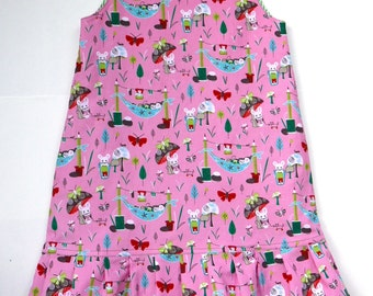 Girl's pleated corduroy winter dress