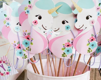 Unicorn Stick Horse Printable - Unicorn Hobby Horse - Unicorn Party Favor - Unicorn Party Game - Instant Download