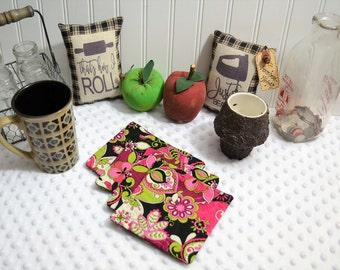 Coaster, Handmade coasters, Paisley coasters, quilted coasters, hand quilted, Mug rugs, Drinkware coasters, fabric mug rug