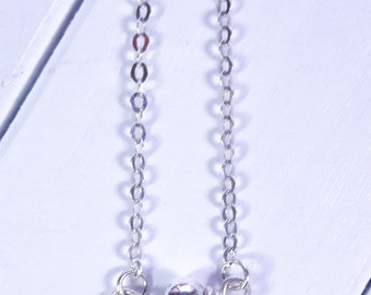 Sterling Silver Single Bead Necklace