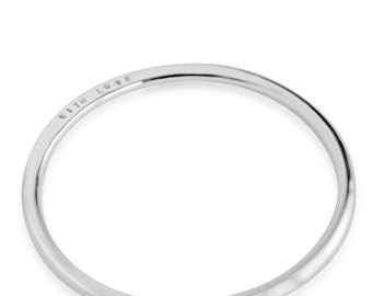 Personalised silver Bangle - hand stamped jewellery in sterling silver precious metal