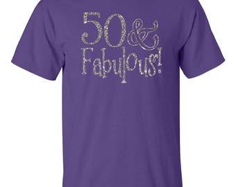 50 & FABULOUS SHIRT. 50TH Birthday Shirt. 50 Birthday Shirt. Birthday Shirt. Birthday Tshirt. Thirty Birthday. Birthday Party Shirt.