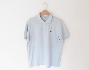 LACOSTE Baby Blue Polo Shirt, sz. 5 = L