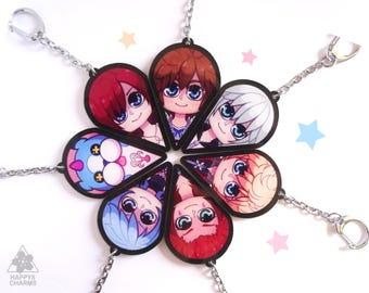 Kingdom Hearts BFF Flower keychains