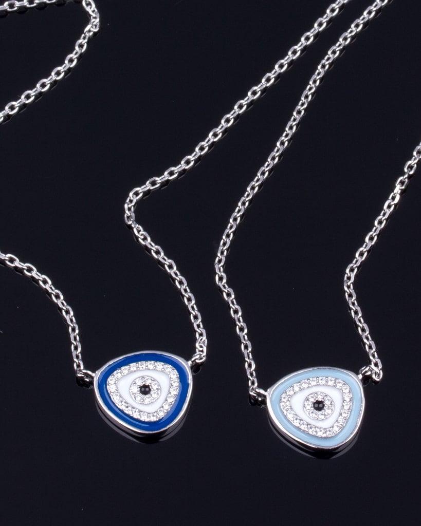 sterling silver evil eye necklace silver evil eye jewelry
