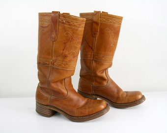Steer Stitched  Campus Boots 8.5D/9