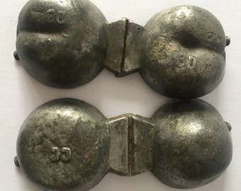 French Antique Pewter ice cream moulds x2