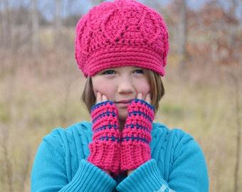 Custom Fingerless Gloves, Striped Fingerless Mittens,   Crochet Wristers,    Made to Order